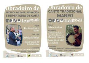 LA TRADESCOLA IMPARTIRÁ DOS NUEVOS TALLERES DE TÉCNICAS DE GAITA Y DE CANTO TRADICIONAL (MANEO)